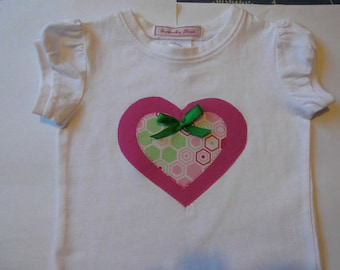 Girls heart shirt or romper.