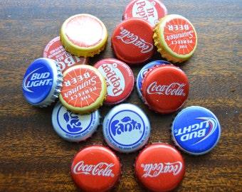 25 UNBENT Soda and Beer Caps