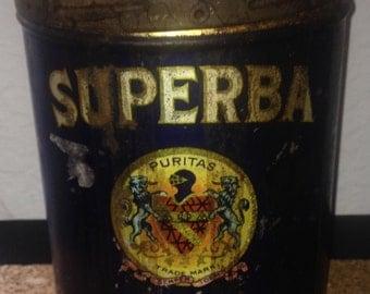 Antique Superba Coffee Can