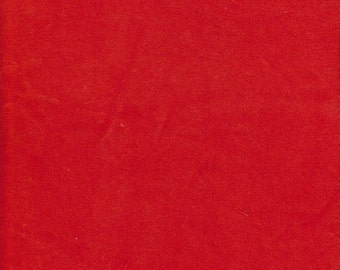 Red Cotton Velour