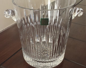 Vintage Lead Crystal Ice Bucket