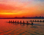 Rowing into the Sunset