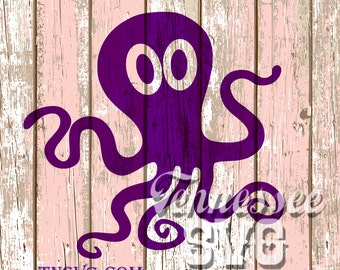 beach, nautical, octopus, sea creature, FCM, SVG, PNG