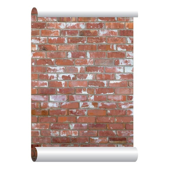 Self Adhesive Removable Wallpaper Red Brick By Eazywallpaper