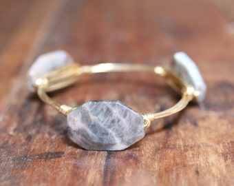 Grey Sunstone Bangle