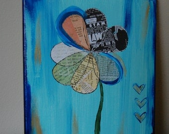 Original Painting, Acrylic Painting, Abstract Art, Small Canvas, Flower Painting, Handmade Painting