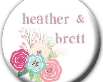 24 Button Wedding Favors - Bridal Shower Favors - Personalized Wedding Favors - Bridal Shower Favors - Button Favors - Bottle Opener Favors