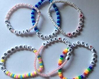 CUSTOM LETTER-BEAD bracelets, must be under 15 letters!!!