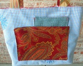 Handmade Floral Fabric Purse or Tote Bag #392