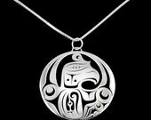 Thunderbird pendant - Northwest Coast Sterling Silver
