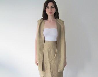 Vintage Ladies Raw Silk Suit