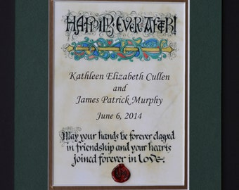 Personalized Irish Wedding Blessing