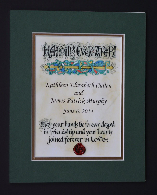 Irish Wedding Blessing Gifts: Personalized Irish Wedding Blessing