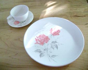 Vintage Melmac Rose Dishes