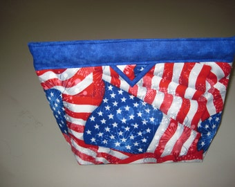 Patriotic Snap Closure Bag.