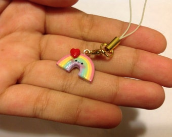 Rainbow cell phone charm