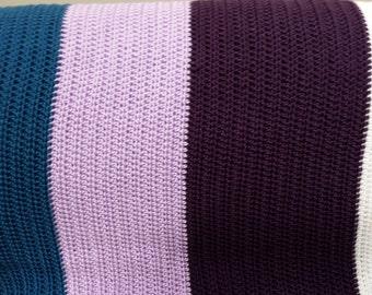 crochet baby blanket or throw