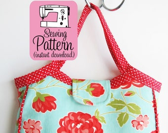 Granny Tote PDF Sewing Pattern | Tote or Project Bag Purse Sewing Pattern PDF