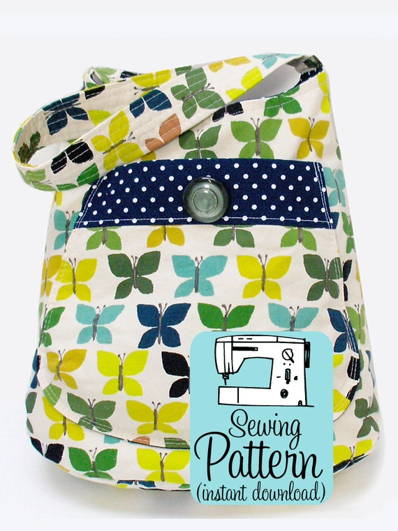 Tote Bag Pattern Uk : Bucket Bag PDF Sewing Pattern Project Tote Shoulder Bag Purse Sewing ...