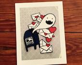 Parcel Ghost Postcards (five postcards)