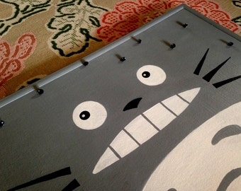 Totoro Bulletin Board With Dust Sprite Pushpins Hand Painted Fun Bedroom Gift