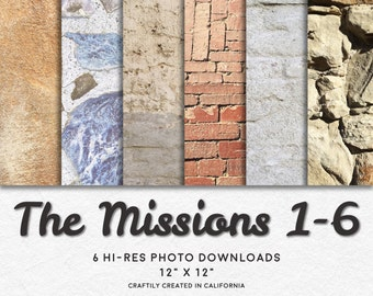 THE MISSIONS 1-6 Hi-Res Digital Download Photo Backgrounds Pak