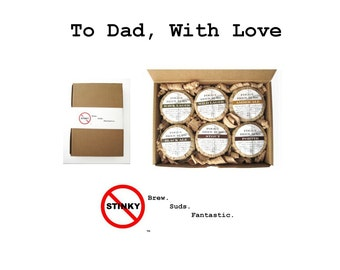 Beer soap 6-pack Husband Gift Dad Valentine Boyfriend Gift Brother Gift - Ales Lager Porter Stout Man soap for men Masculine Beer Lover gift