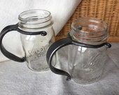 Mason Jar Mug with Hand Forged Handle