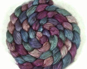 Handpainted Yak/Silk Roving - 4 oz. HAWAII - Spinning Fiber