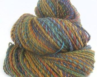 Handspun Yarn handdyed BFL & Merino wool