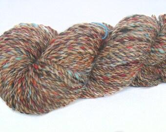 Handspun Yarn BFL Merino wool & Kidmohair