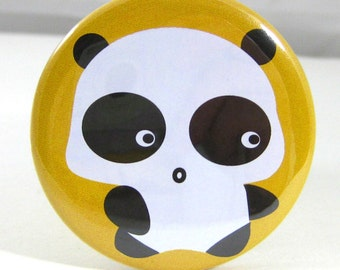 Panda Mirror Orange Vinyl Sleeve 2.25 inch Fit Purses & Cosmetic Bags, Great as Birthday Gift, Party Favors