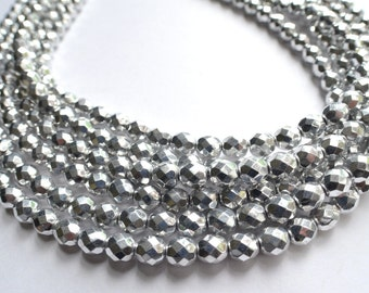 Rebecca - Silver Glass Bridesmaid Statement Necklace