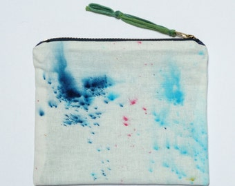 Hand Dyed Flat Coin Pouch- Dye Blast #1515 iPhone Money Cards
