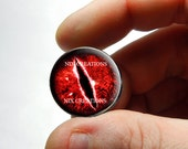 Glass Eyes - Red Evil Dragon Glass Eyes Handmade Glass Taxidermy Doll Eyes Cabochons - Pair or Single - You Choose Size