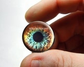 Glass Eyes - Pastel Funk Zombie Human Doll Eyeball Flat Cabochons - Pair or Single - You Choose Size