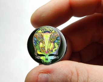 25mm 20mm 16mm 12mm 10mm or 8mm Glass Cabochon - Grateful Dead Steal Face Head Design 1  - for Jewelry and Pendant Making