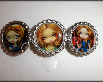 "Jasmine Becket Griffith  "" The Many Faces of Alice ""  hair barrette"