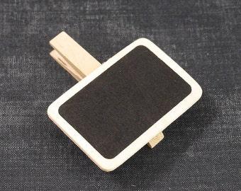 DESTASH - Mini Chalkboard Clip Pins - 10pcs - Wooden Chalkboard, Chalkboard Signs, Rectangle Chalkboard, Chalkboard Clothespin, Blackboard
