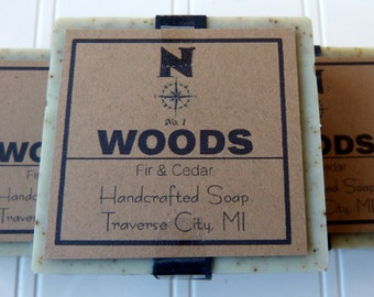 Fir Cedar Soap Handmade Soap Cold Process Mens Natural