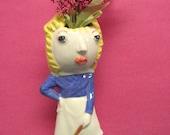Juanita  OOAK vase lady