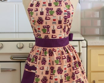 Retro Apron Baking Theme in Pink and Purple CHLOE