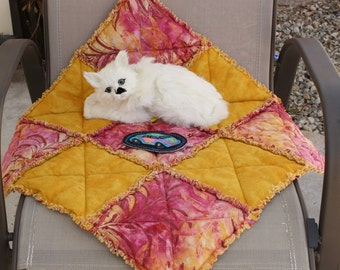 SALE--Cat Blanket, Cat Bed, Handmade Cat Bed, Pet Bed, Travel Cat Bed, Dog Blanket, Cat Accessories, Furniture Cover Sofa Cover Cat Pad