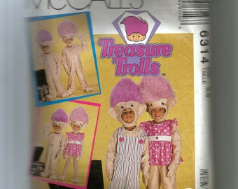 McCall's Boys' and Girls' Troll Costumes Pattern 6314
