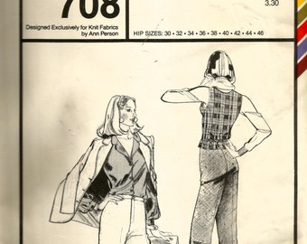 Stretch & Sew Classic Pants Pattern 708