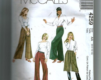 McCall's Misses' Cullotes and Pants Pattern 4259