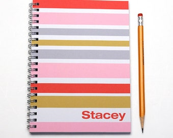 2016 Custom Planner, 12 Month Planner, weekly planner, custom gift idea, personalized calendar, be my bridesmaid, Pink Red, SKU: pl cherry