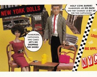 RARE Unused Vintage 1990 Barbie Postcard American Postard Co. (Barbie16)