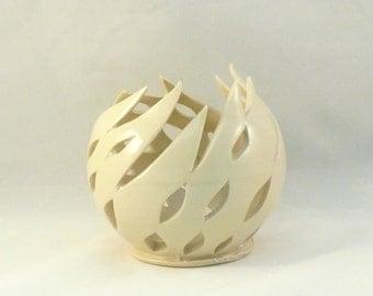 Art Vessel, Ceramic Candleholder, Wedding Table Decoration, Candle Holder, Art Object, Ceramic Art Sculpture or Vase, Wedding Table Gift