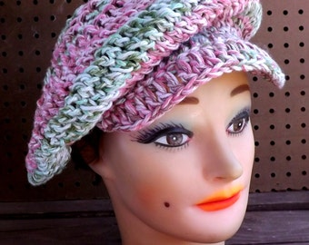 Crochet Newsboy Hat Pattern,  Newsboy Pattern,  Crochet Pattern for Womens Hat,  Crochet Pattern Hat,  Annie Newsboy Hat